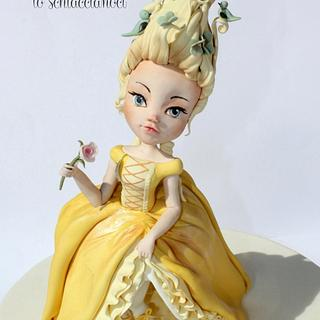 Marie Antoinette 2nd Version - Yellow, Birds and Butterflies