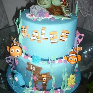 Finding nemo first birthday cake