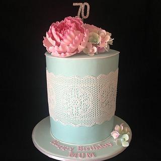 Pretty blue cake