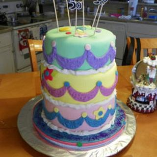 My first tiered cake!