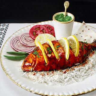 Tandoori Fish - Bakerswood Food Cake Challenge