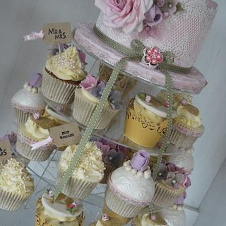 Faye Wedding Cupcake Tower