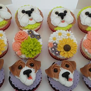Jack Russell and Cockerpoo cupcakes