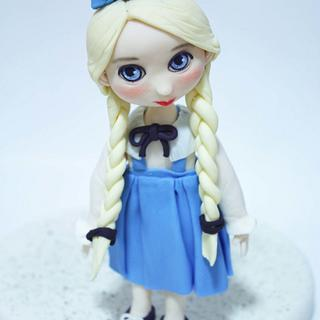 last blue baby doll - Cake by fantasticake by mihyun