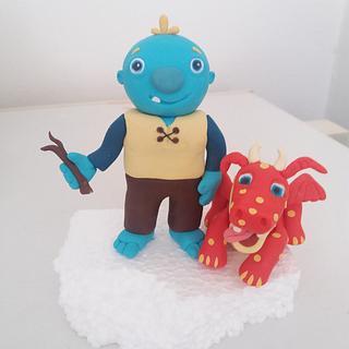 Wallykazam and dragon