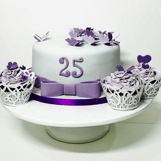Simple 25th wedding anniversary cake  - Cake by Priscilla Barretto