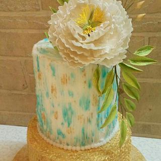 a buttercream textured cake