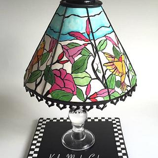Hand painted Tiffany lamp cake