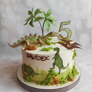 Dinosaurs cake - Cake by Jitkap