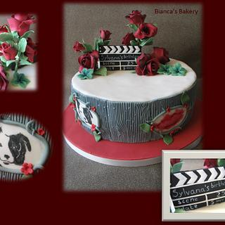 Roses and a Sheepdog - Cake by Bianca's Bakery