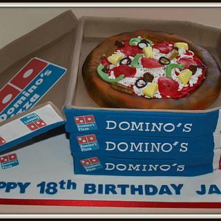 Domino's Pizza and boxes