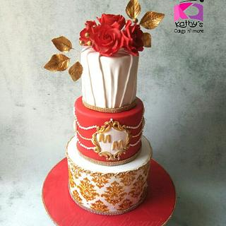 Royal Indian wedding cake  - Cake by Chanda Rozario