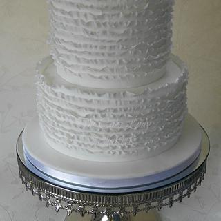 Ruffles Wedding Cake - Cake by The Cake Lady (Tracy)