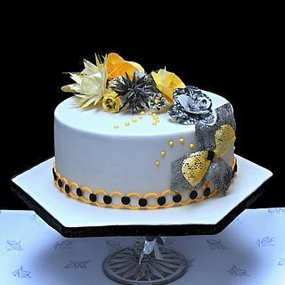 yellow black cake