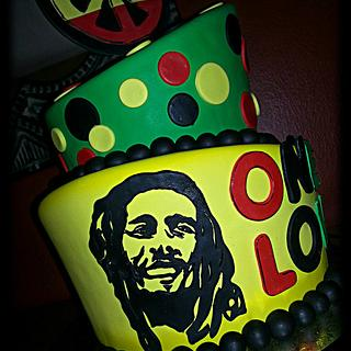 Bob Marley themed cake.