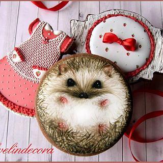 Fall cookies: hedgehog