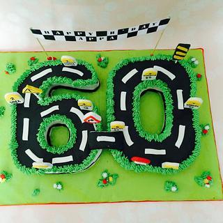 60th birthday cake - Cake by Cakestry