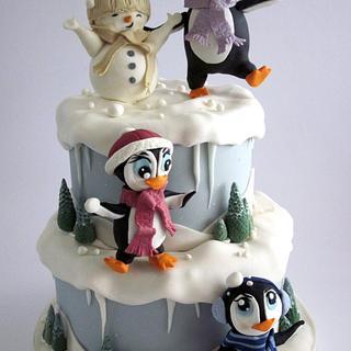Snow fun - Cake by Angela Penta