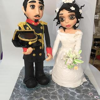Wedding cakes dolls