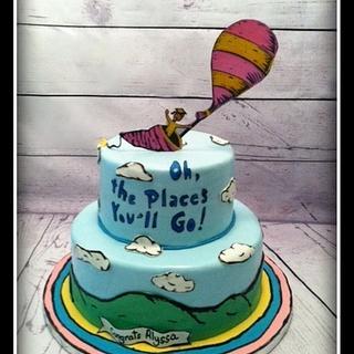 Dr. Seuss Graduation Cake - Cake by Angel Rushing