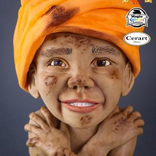 Bangladeshi Child - Magnificent Bangladesh - An International Cake Art Collaboration