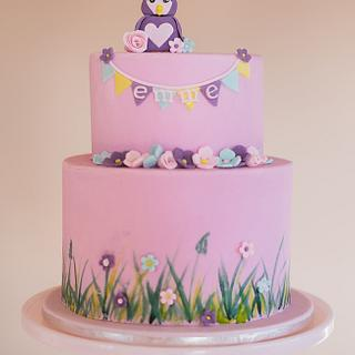 Owl Birthday Cake - Cake by Miriam