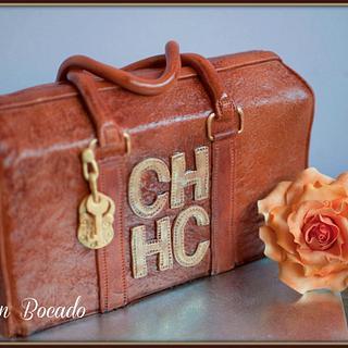 Carolina Herrera handbag cake