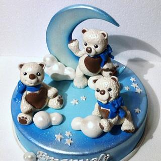 Teddy on the moon - Cake by Rossella Curti