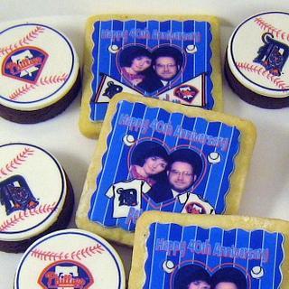 Anniversary Cookies and Brownie Bites - Cake by Cheryl