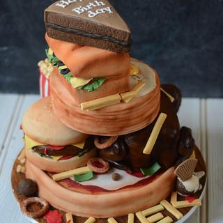 The big foodie cake