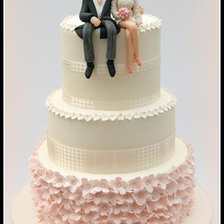 Ioni and Tom's wedding cake
