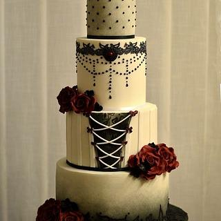 Gothic Inspired Wedding Cake for CI