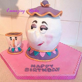 Mrs Potts and Chip, Beauty and the Beast teapot cake