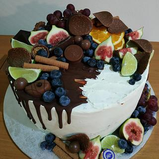 Fruit and choco - Cake by Ellyys