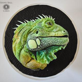 Stanley II the Iguana - Cake by Shiny Ball Cakes & Creations (Rose)