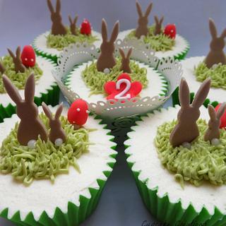 Rabbit Birthday Cupcakes