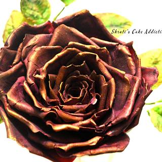 Antique Purple rose!! - Cake by ShrutisCakeAddiction