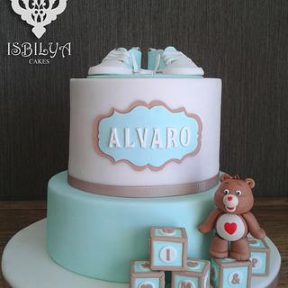 Christening cake for Álvaro