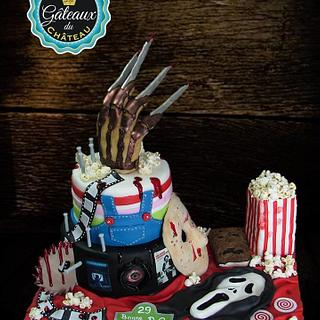 Horror movie birthday cake