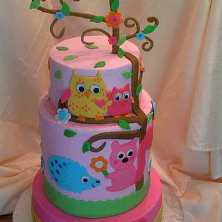 """Happi Tree"" baby shower - Cake by Cake Creations by Christy"