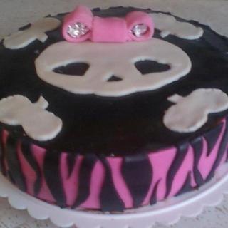 Skull Birthday Cake