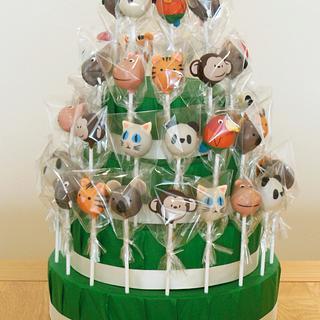 Zoo Animal Cake Pop Display