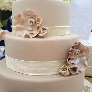 Valentino Inspired Wedding Cake - Cake by The Eden Cupcake Company