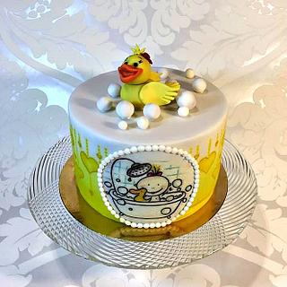 Cake with duck