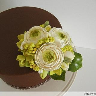 Ranunculus and Chocolate II