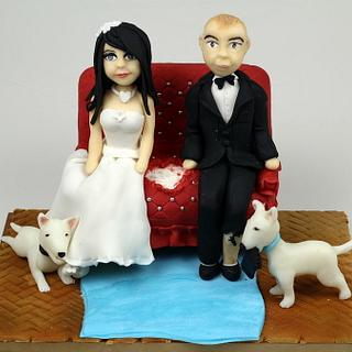 Wedding Cake Toppers - Cake by Beatrice Maria