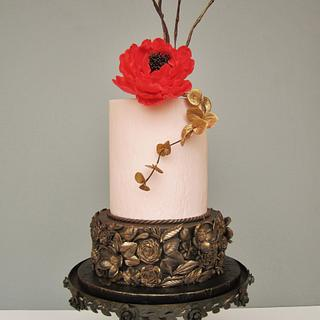 Bas relief birthday cake