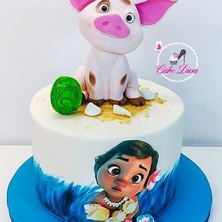 Moana/Vaiana birthday cake