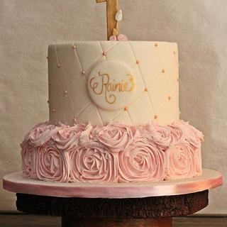 Baby pink cake - Cake by The Sweetest Thing
