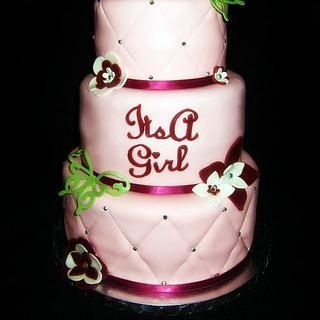 Its a Girl Butterfly Cake